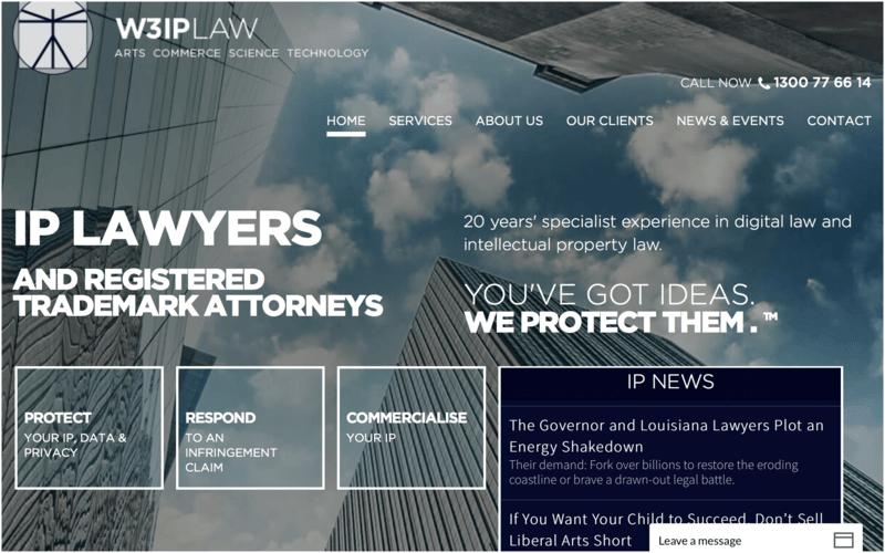 Meilleurs sites web d'avocats-w3ip