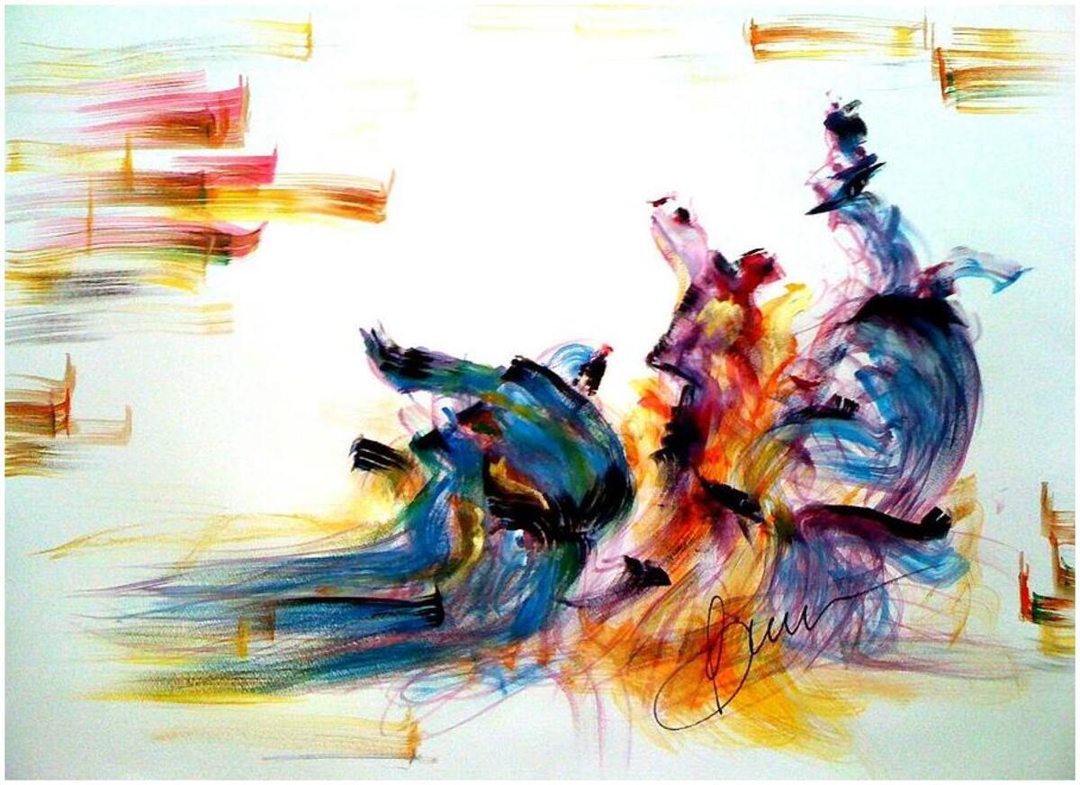 peinture dynamique